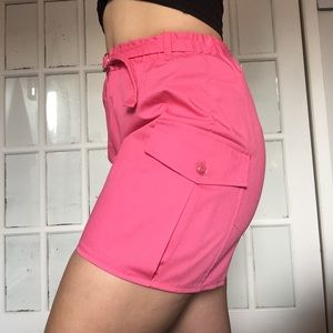 Pink vintage high waisted shorts